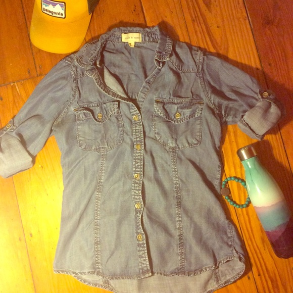 Anthropologie Tops - Cloth & Stone Denim Shirt